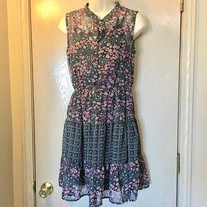 Mossimo sheer dress w/slip - S